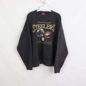 Vtg NFL Mens XL Pittsburgh Steelers Sweatshirt